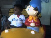 Harvey in noddy car